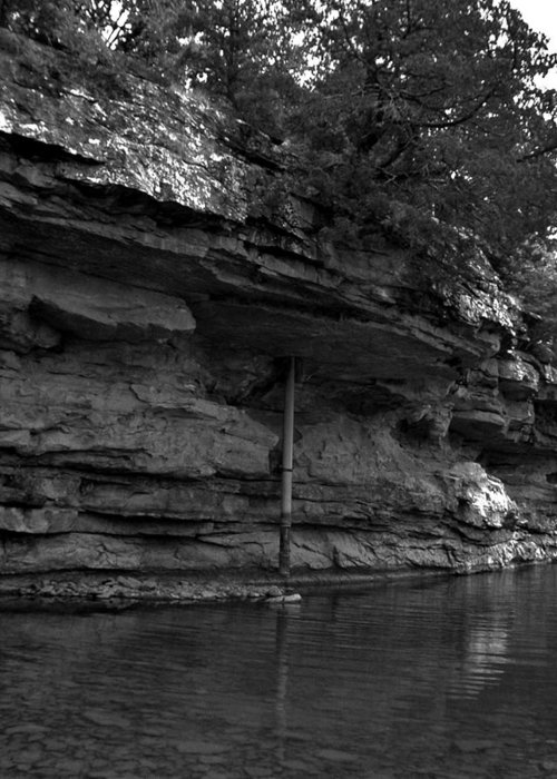 Greeting Card featuring the photograph Westforkwhiteriver-bw by Curtis J Neeley Jr