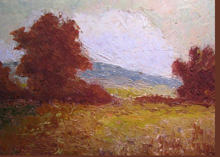 Western Landscape Greeting Card featuring the painting Westward by Belinda Consten