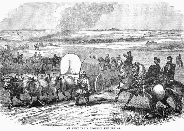 1858 Greeting Card featuring the photograph Westward Expansion, 1858 by Granger