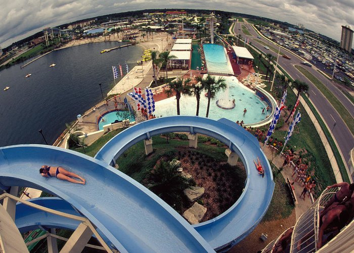Waterslide Greeting Card featuring the photograph Wet And Wild by Carl Purcell