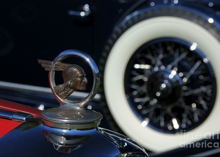 Hood Ornament Greeting Card featuring the photograph Wheel To Wheel by David Pettit