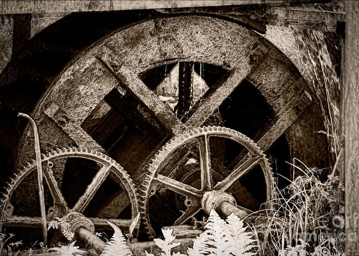 Watermill Greeting Card featuring the photograph Wheels Of Time by Gabriela Insuratelu