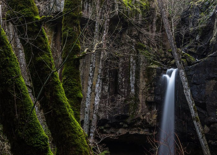 Hedge Creek Falls Greeting Card featuring the photograph Where It All Starts by Marnie Patchett