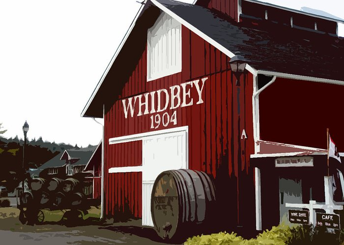 Barns Greeting Card featuring the photograph Whidbey Winery 1904 by Valerie Moore