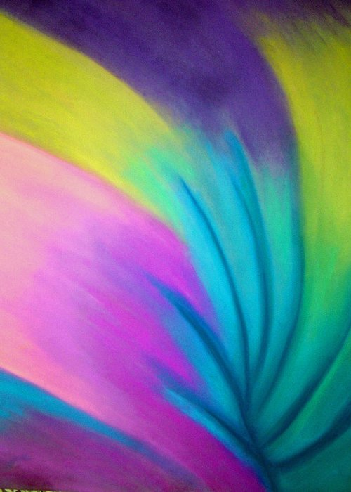Pastel; Colors; Abstract Drawing Greeting Card featuring the drawing Whirlwind by Jan Gilmore