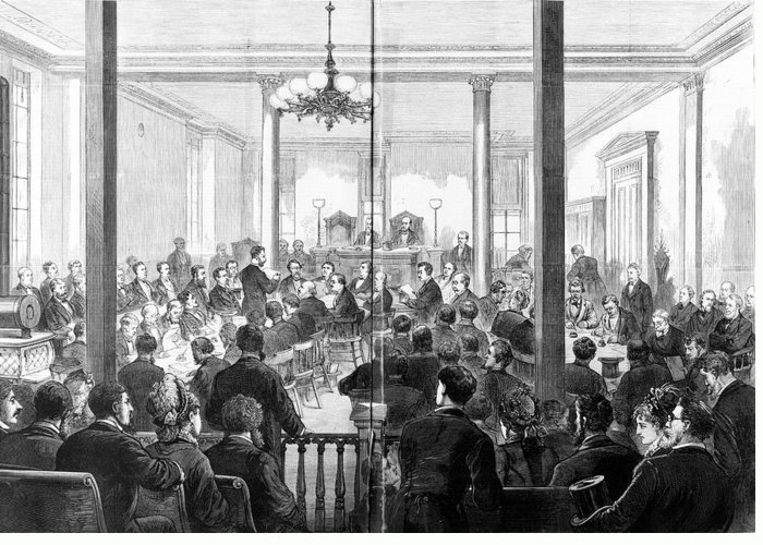 1876 Greeting Card featuring the photograph Whiskey Ring Trial, 1876 by Granger