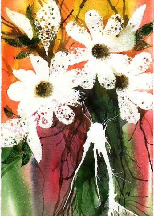 Daisy Greeting Card featuring the painting White Daisies by Marsha Elliott