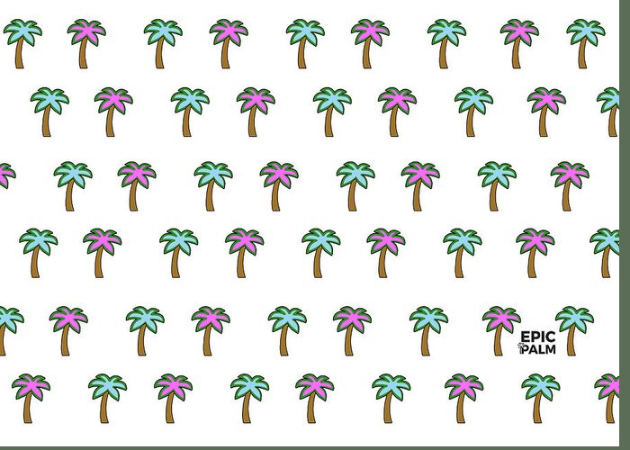Greeting Card featuring the tapestry - textile White Epic Palm Tree Print by Designaboy