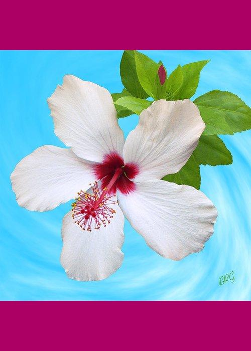 White Hibiscus Good Morning Greeting Card