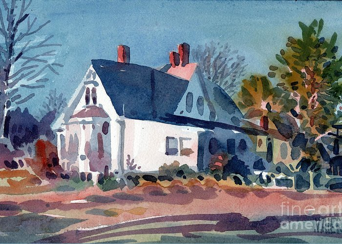 Bridgeport Greeting Card featuring the painting White House by Donald Maier