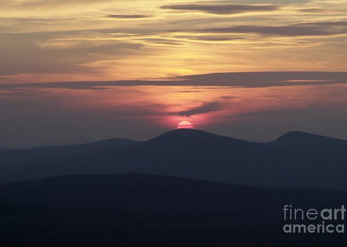 Alpenglow Greeting Card featuring the photograph White Mountains Nh - Sunset by Erin Paul Donovan