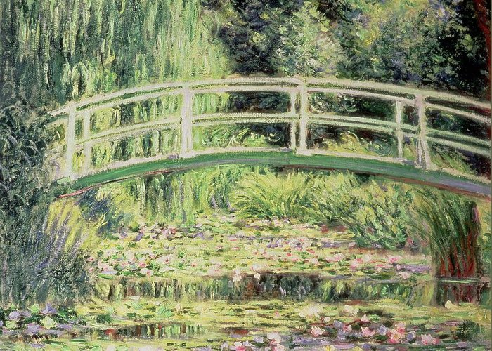 White Nenuphars Greeting Card featuring the painting White Nenuphars by Claude Monet