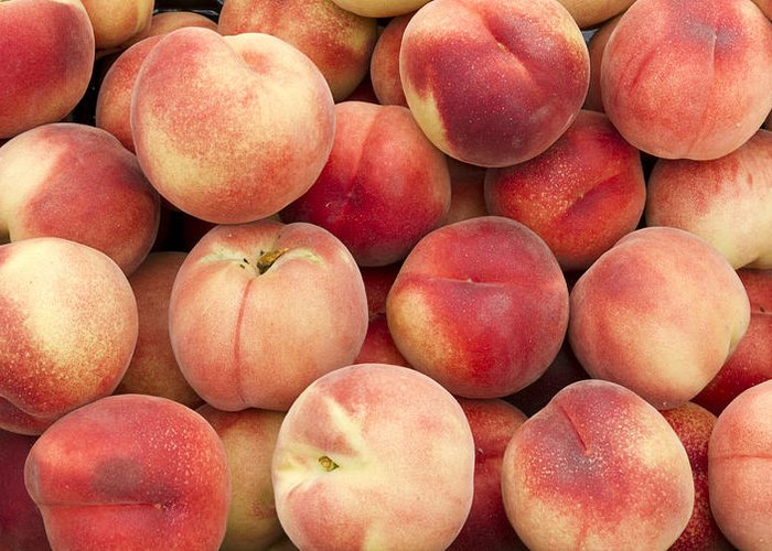 Fruit Greeting Card featuring the photograph White Peaches by John Trax