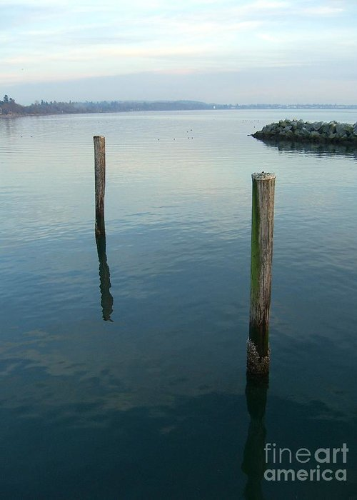 Water Greeting Card featuring the photograph White Rock Water by Jim Thomson