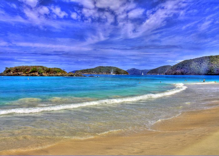 Caribbean Greeting Card featuring the photograph White Sands Beach by Scott Mahon