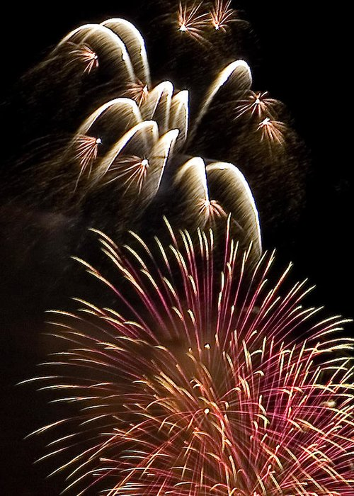 Fireworks Greeting Card featuring the photograph White Trails by David Patterson