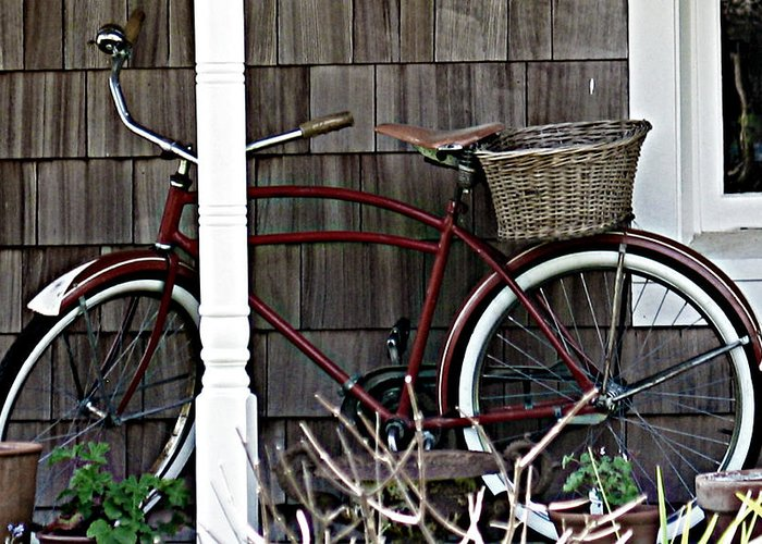 Bike Greeting Card featuring the photograph White Wall Tires by Mg Blackstock