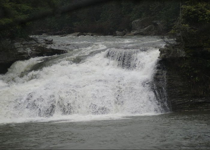 Water Greeting Card featuring the photograph White Water by Heather Green