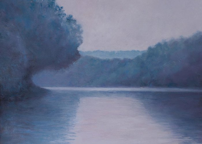 Impressionist Greeting Card featuring the painting Whites Ferry by Don Perino