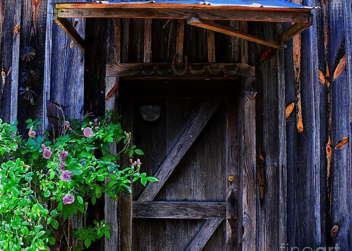 Door Greeting Card featuring the photograph Who Is Living Here by Barbara Teller