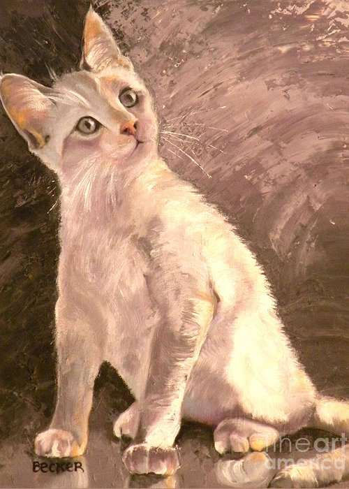 Cat Greeting Card featuring the painting Whole Lotta Lovin by Susan A Becker