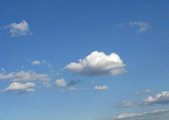Clouds Greeting Card featuring the photograph Wide Open by Rhonda Barrett