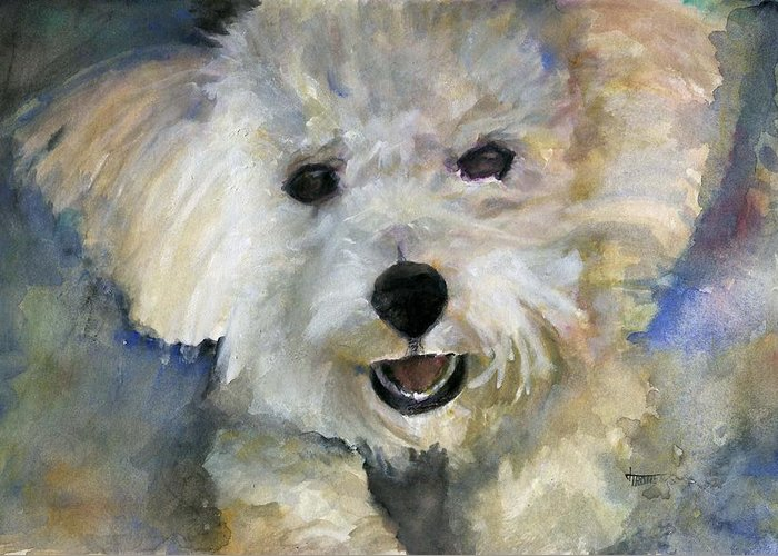 Animals Greeting Card featuring the painting Wild Thing by Jimmie Trotter