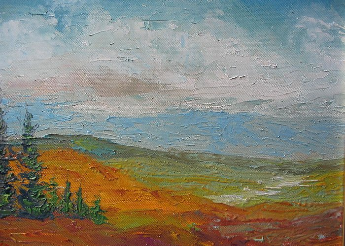 Landscape Greeting Card featuring the painting Wilderness by Belinda Consten