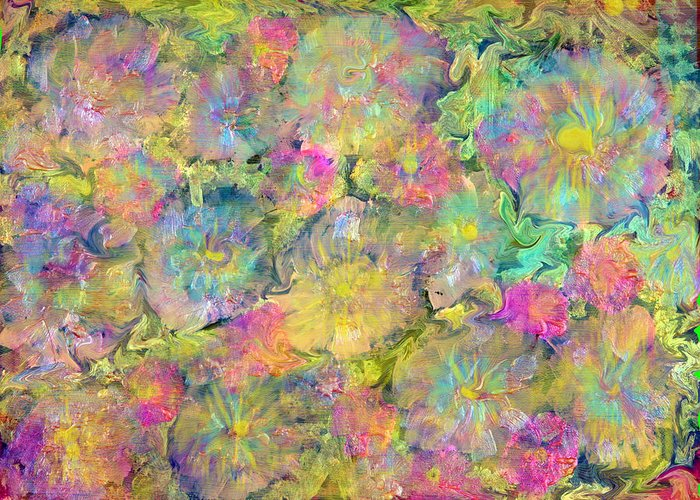 Wildflower Painting Greeting Card featuring the painting Wildflowers by Don Wright