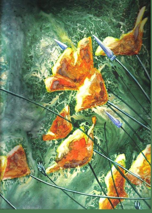Wildflowers Greeting Card featuring the painting Wildflowers by Marsha Elliott