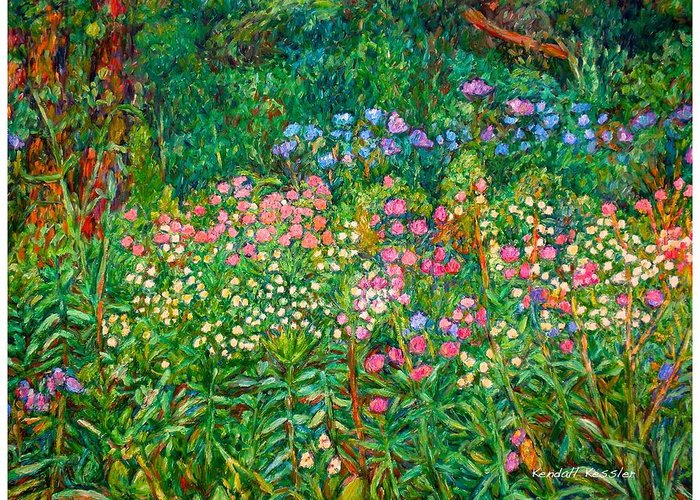 Floral Greeting Card featuring the painting Wildflowers Near Fancy Gap by Kendall Kessler