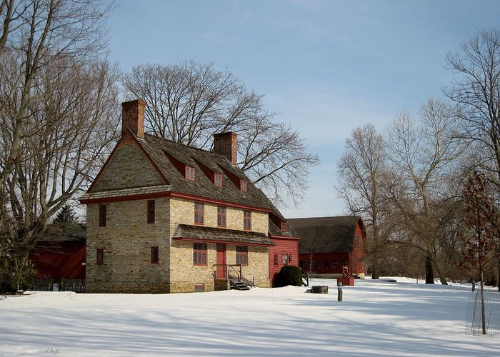 William Greeting Card featuring the photograph William Brinton House, 1704 by Gordon Beck