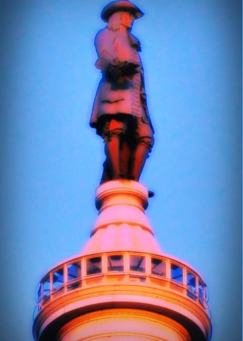 William Penn Greeting Card featuring the photograph William Penn - City Hall In Philadelphia by Bill Cannon