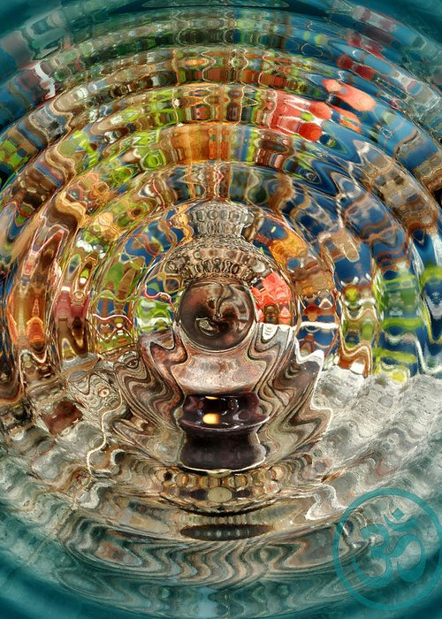 Trippy Greeting Card featuring the photograph Zenergy by Cindy Greenstein