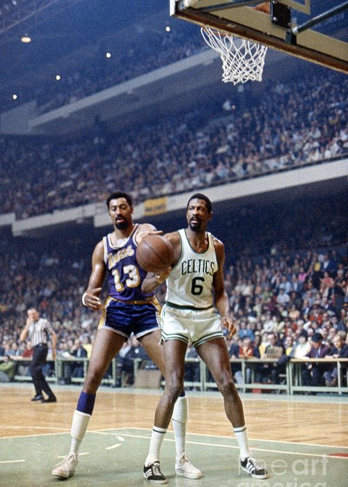 1969 Greeting Card featuring the photograph Wilt Chamberlain (1936-1999) by Granger