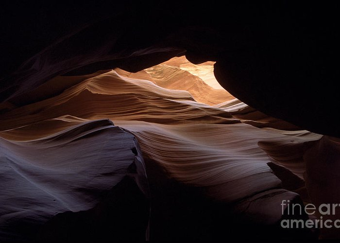 Antelope Canyon Greeting Card featuring the photograph Wind And Water by Kathy McClure