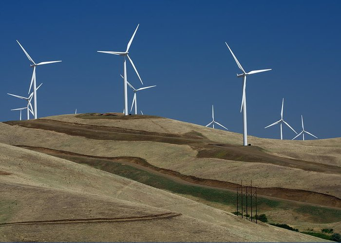 Wind Turbine Greeting Card featuring the photograph Wind Power by Todd Kreuter