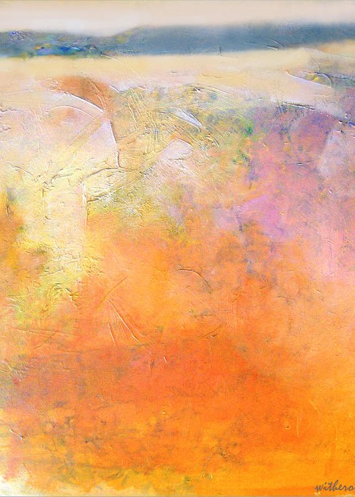 Abstract Greeting Card featuring the painting Wind Sand by Dale Witherow