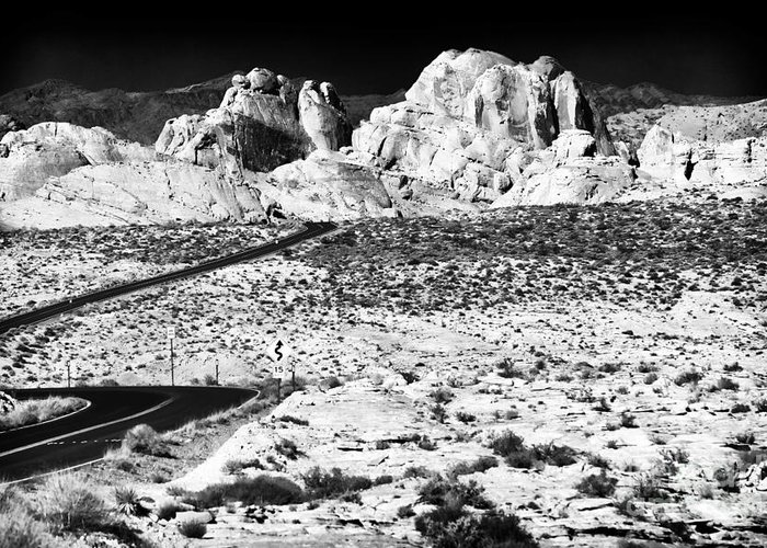 Winding In The Desert Greeting Card featuring the photograph Winding In The Desert by John Rizzuto