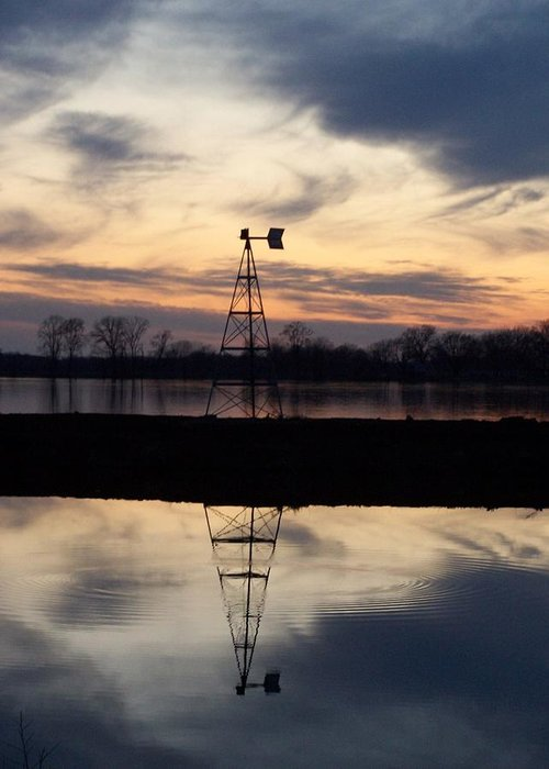 Landscape Greeting Card featuring the photograph Windless Ripple by Joseph Norvell