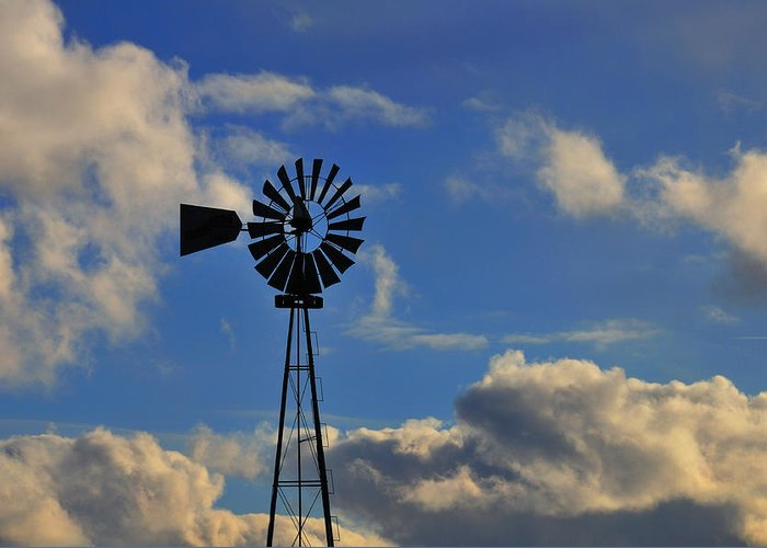 Windmill Greeting Card featuring the photograph Windmill by David Arment