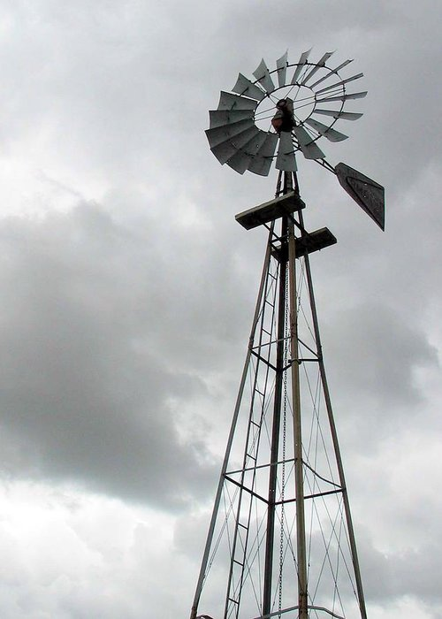 Windmill Greeting Card featuring the photograph Windmill by Margaret Fortunato