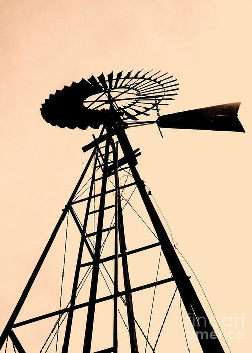 Windmills Greeting Card featuring the photograph Windmill Standing Tall by Christine Belt