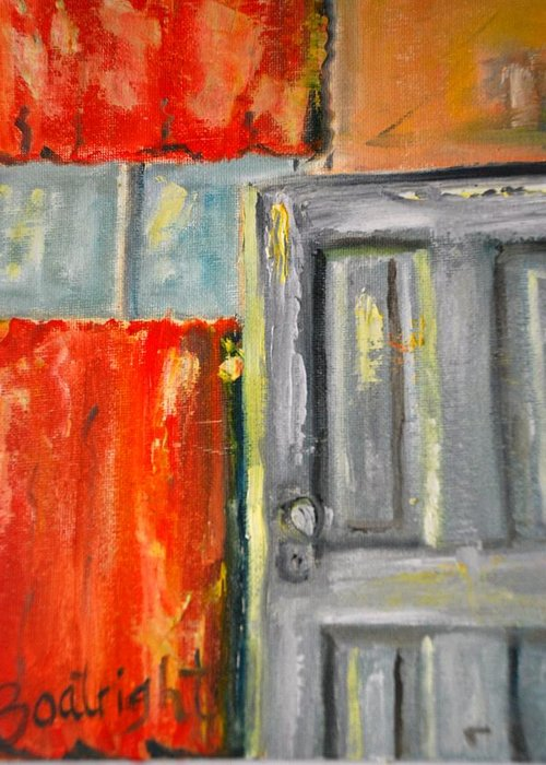 Diane Boatright Greeting Card featuring the painting Window And The Pantry Door by Diane Fiore