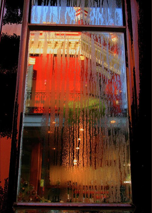 Window Reflection Greeting Card featuring the photograph Window Art by Artie Rawls