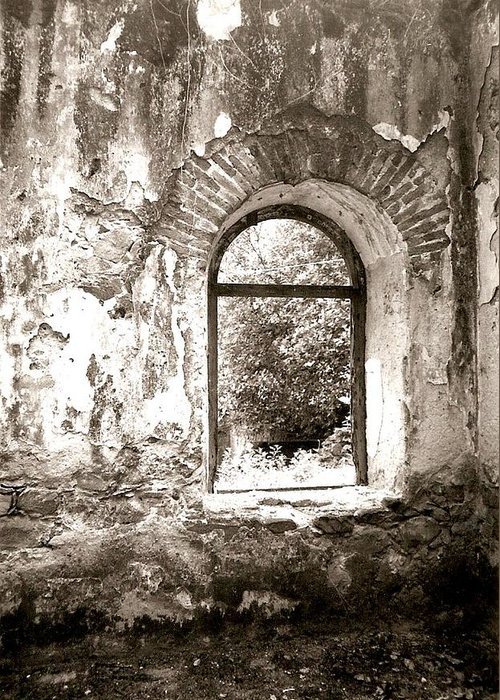Photograph Greeting Card featuring the photograph Window At The Bottom Of The Canyon by Patricia Bigelow