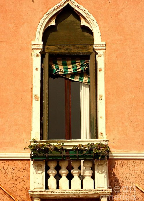 Venice Greeting Card featuring the photograph Window In Venice by Michael Henderson