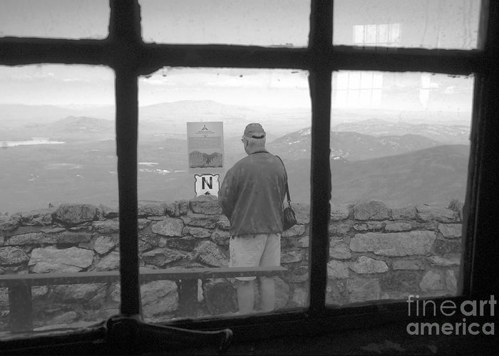 Windows Greeting Card featuring the photograph Window On White Mountain by David Lee Thompson