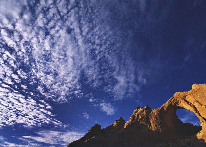 Window Rock Greeting Card featuring the photograph Window Rock, Arizona by Dawn Kish