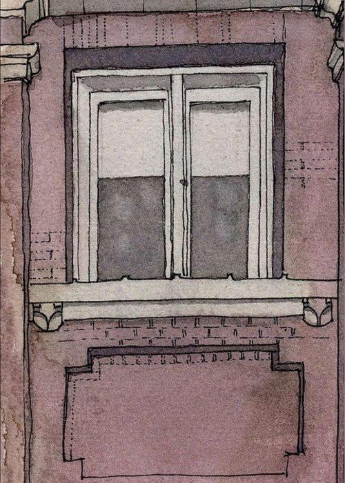 Aiden Humphrey Greeting Card featuring the digital art Window Study 3 by Aiden Humphrey